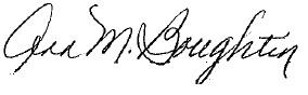 Ann Boughtin's signature